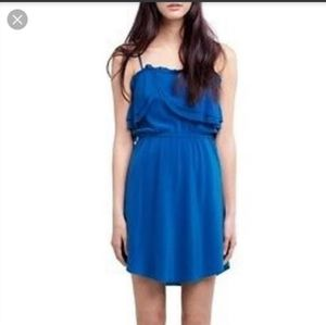 Beautiful blue silk wilfred dress